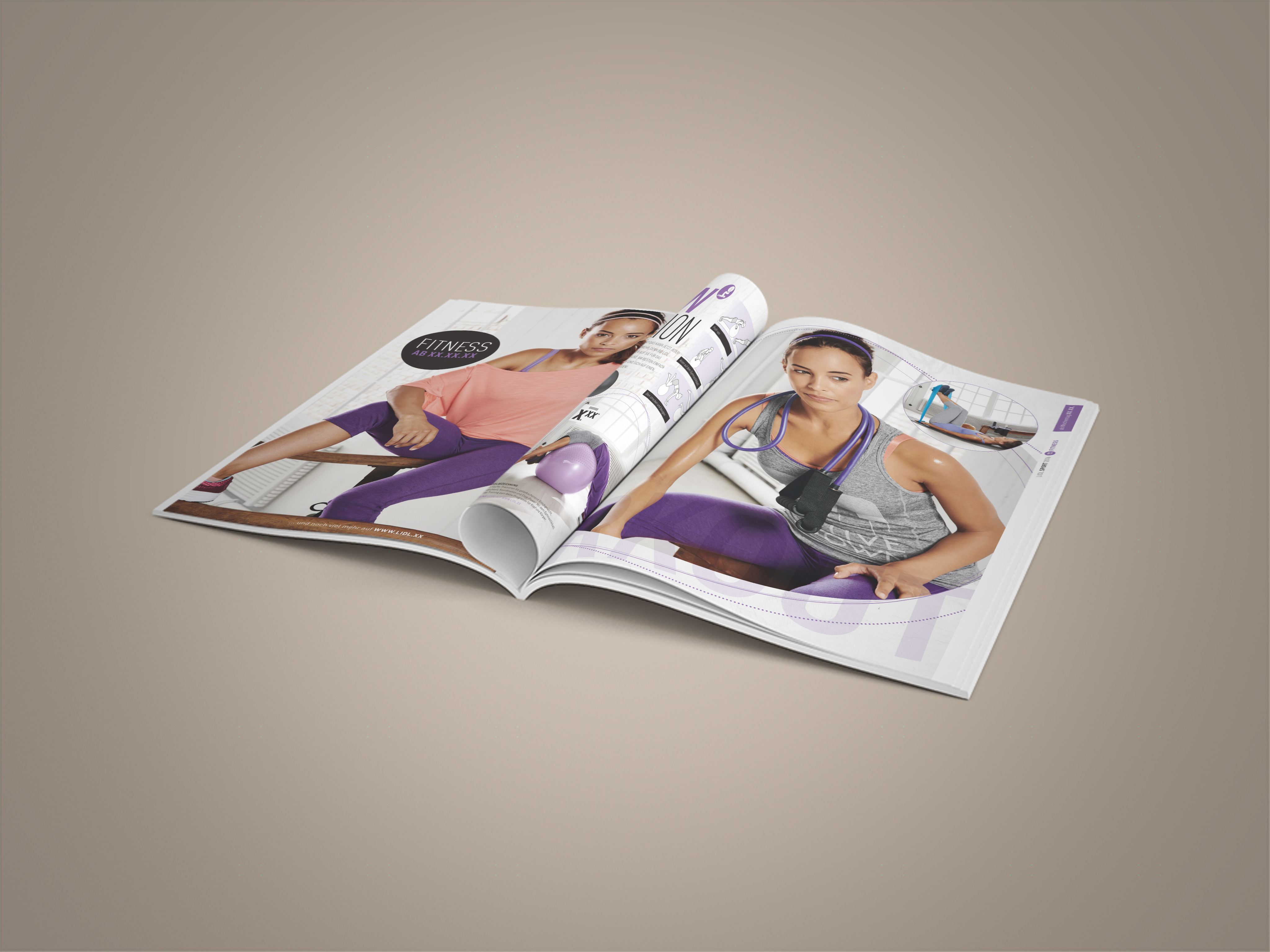 LIDL Fitness Doppelseite