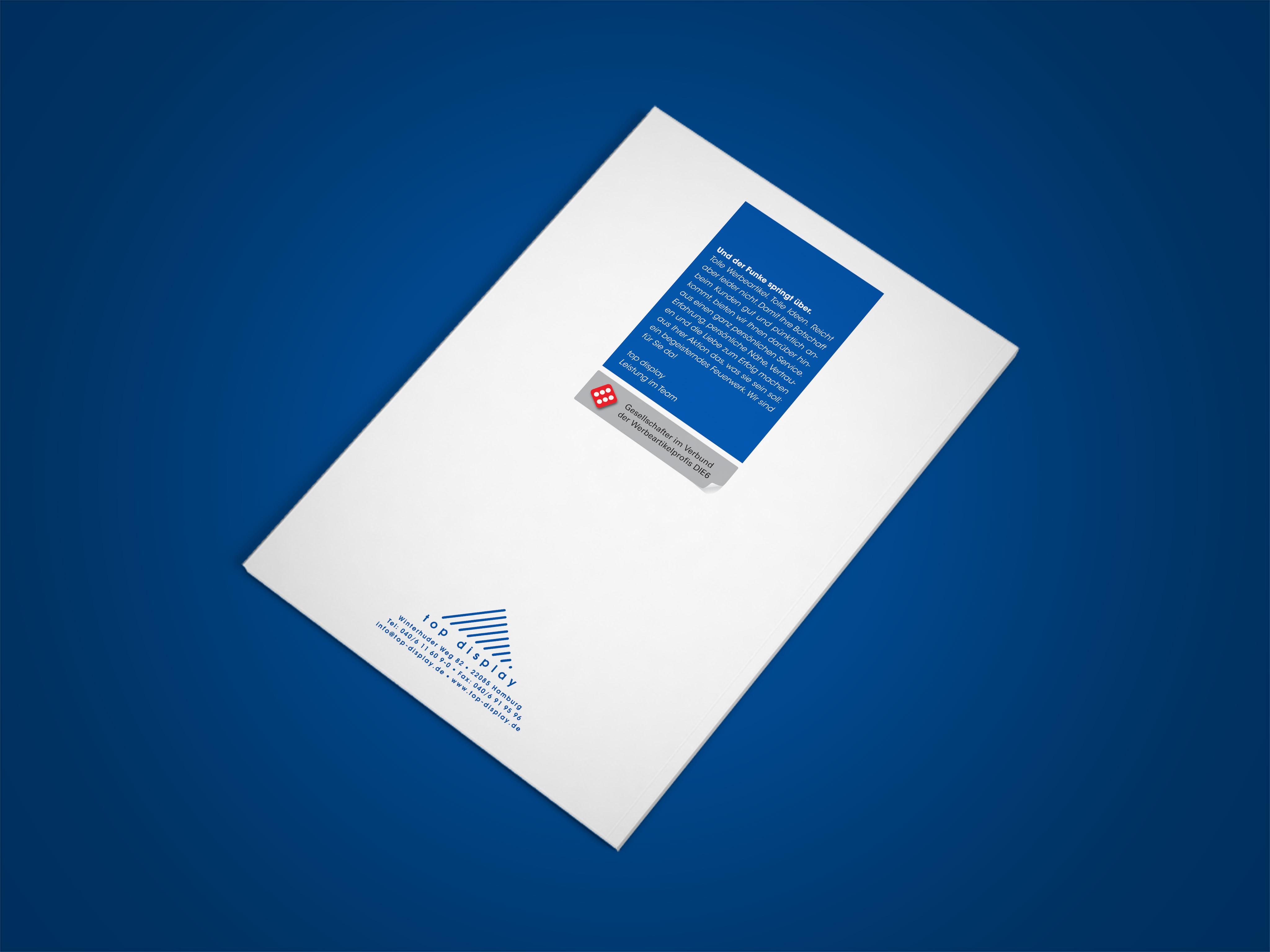 Top Display Imagebroschüre Rückseite