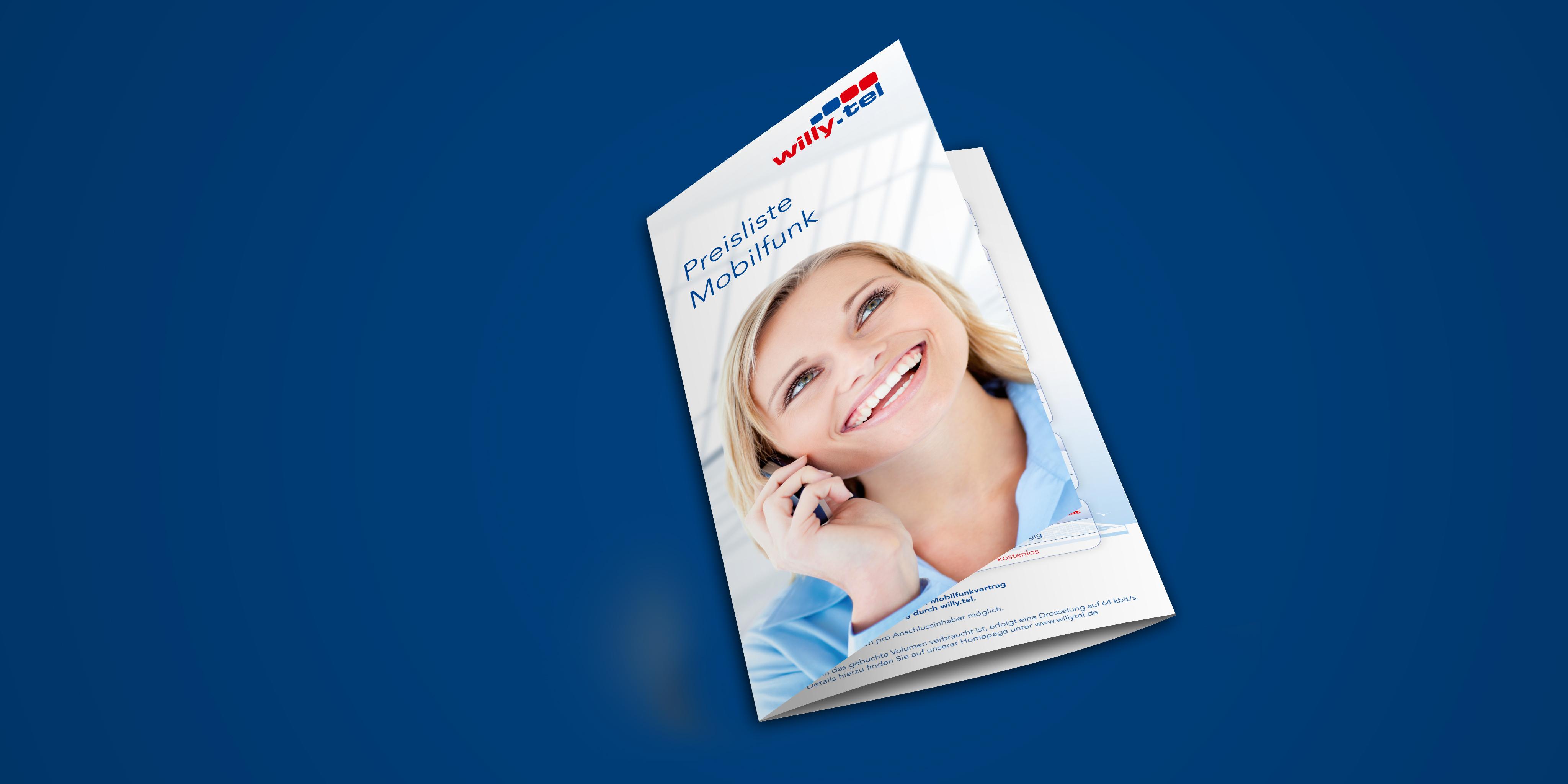 willy.tel Preisliste Mobilfunk Titelseite
