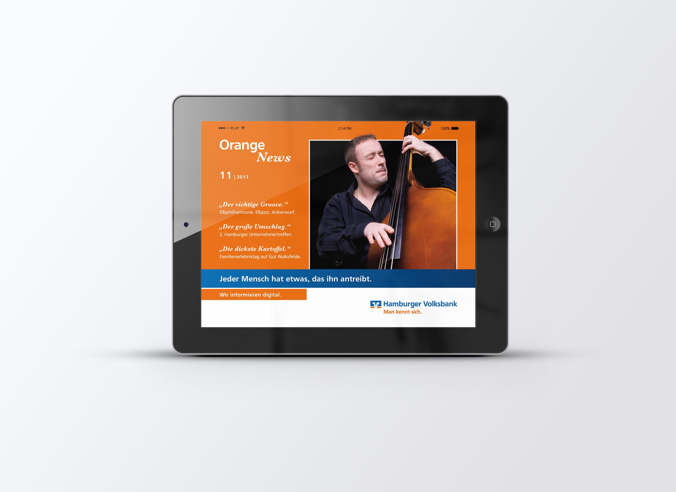 Hamburger Volksbank Mitarbeiterzeitschrift Orange News