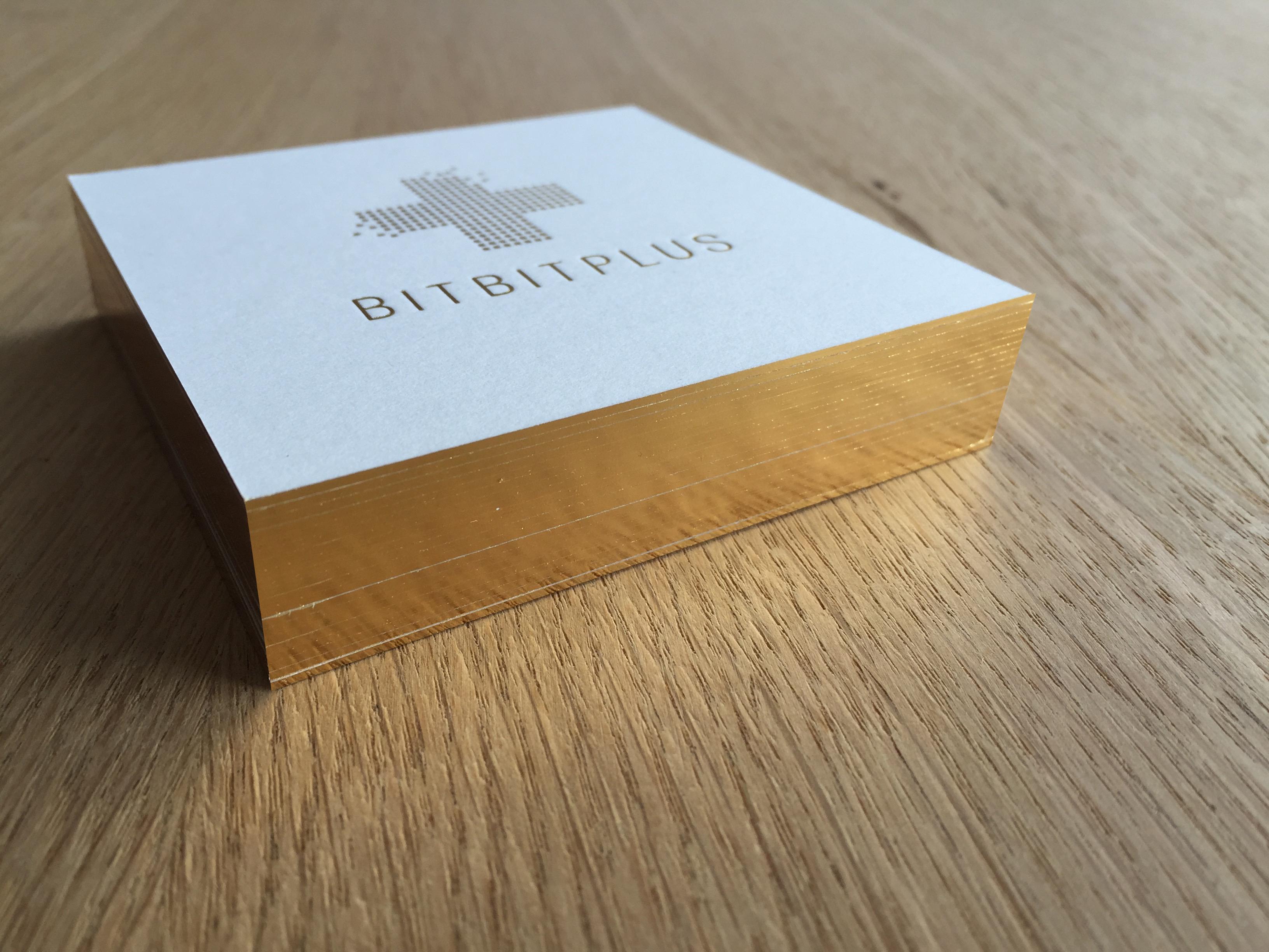 BITBITPLUS Visitenkarte Schnittkante