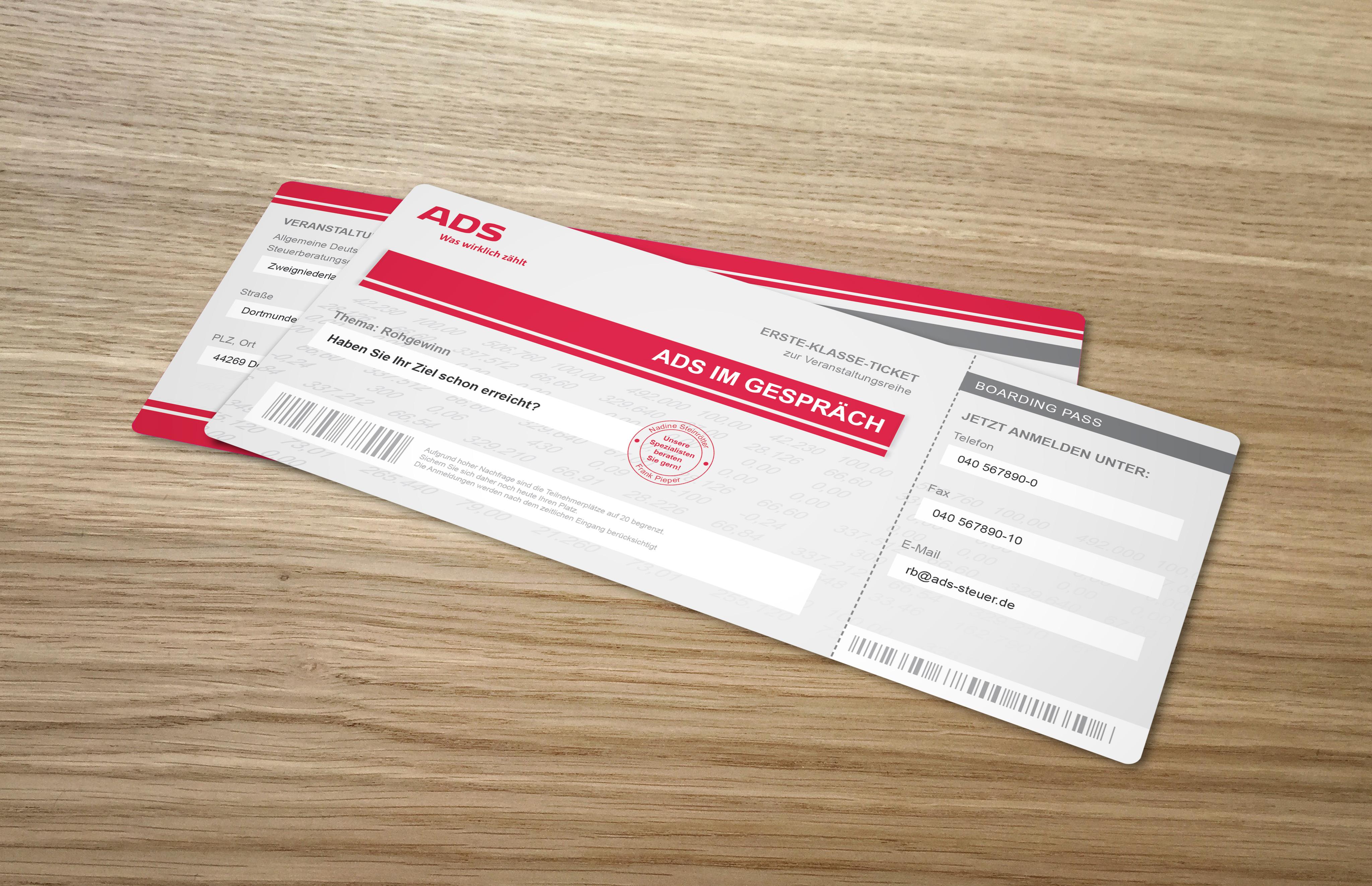 ADS Einladung Bordkarten