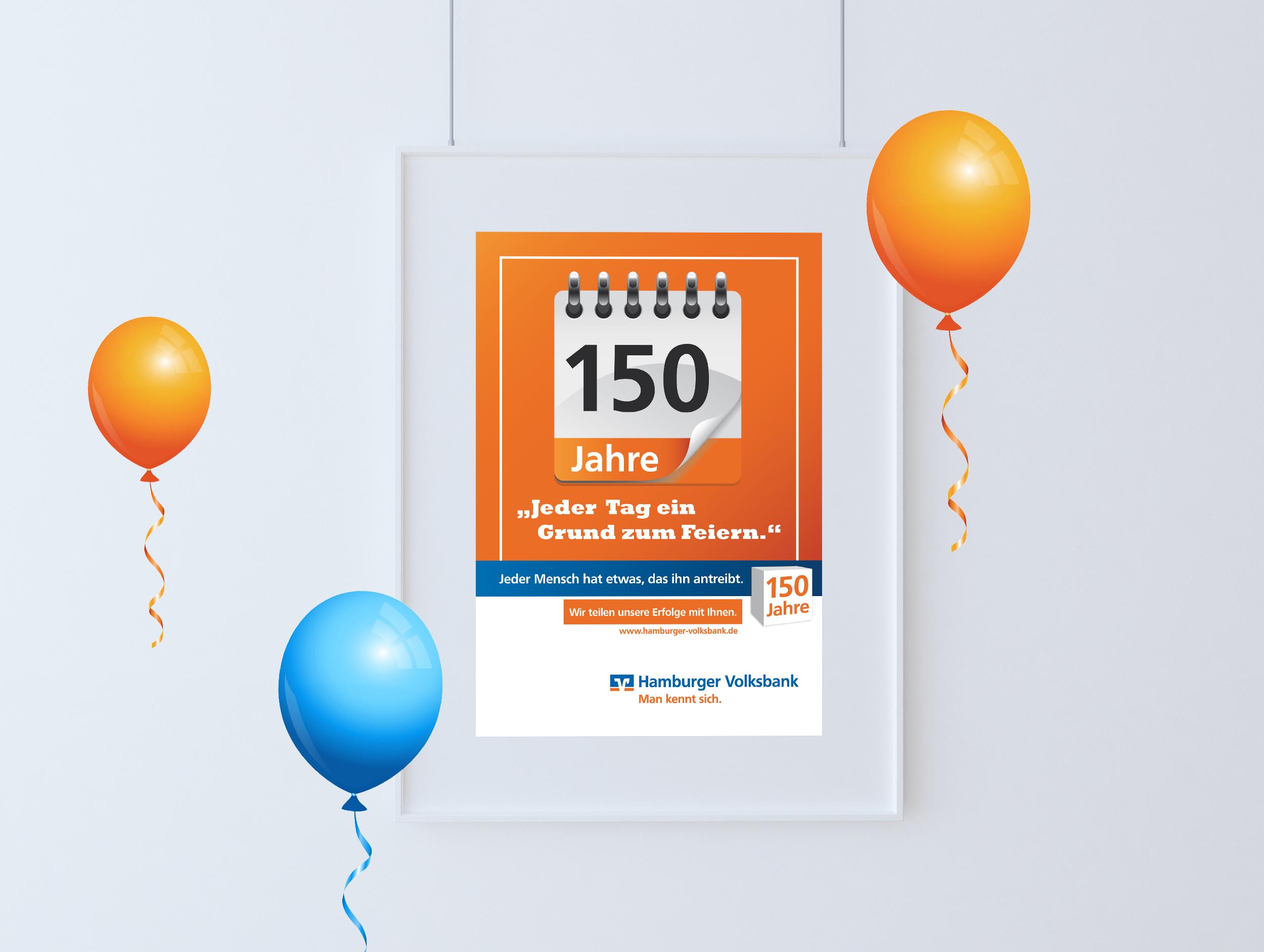 Hamburger Volksbank Jubiläum Plakat