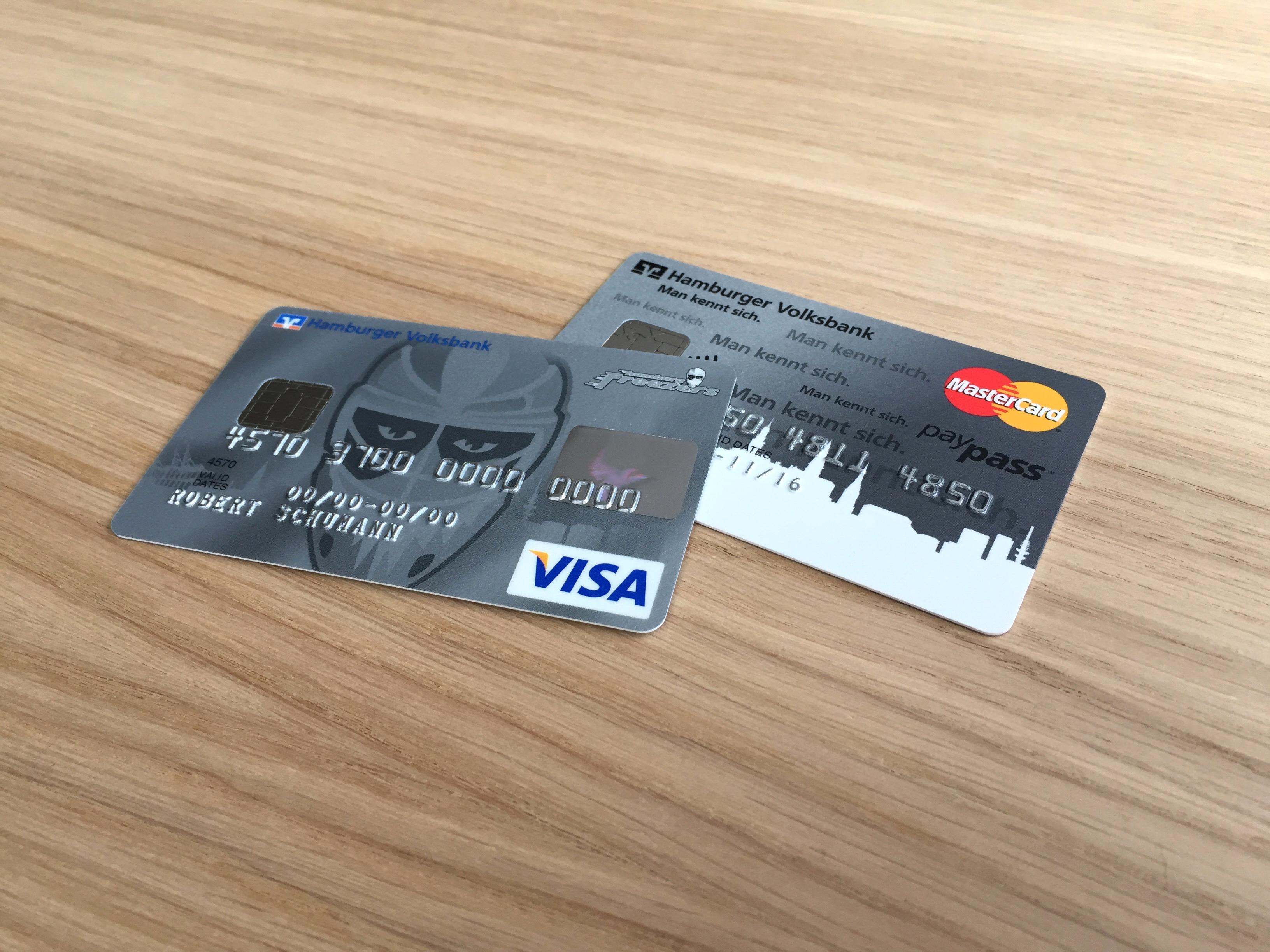 Hamburger Volksbank Kartengestaltung Kreditkarten