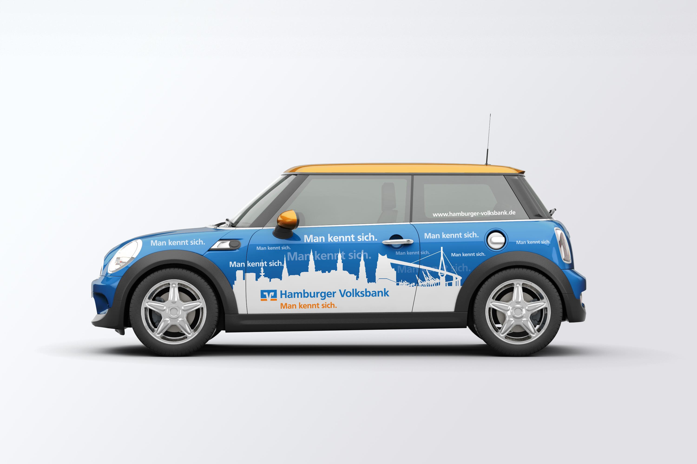 Hamburger Volksbank Fahrzeuggestaltung Mini
